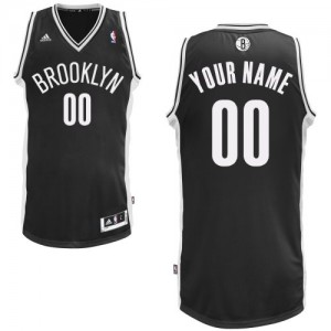 Maillot NBA Swingman Personnalisé Brooklyn Nets Road Noir - Homme