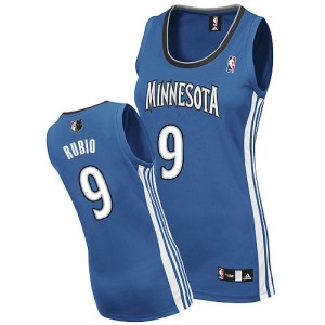 Maillot Authentic Minnesota Timberwolves NBA Road Slate Blue - #9 Ricky Rubio - Femme