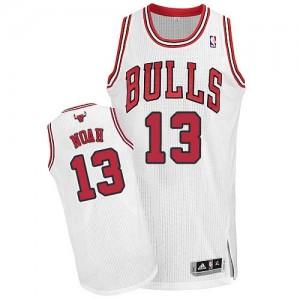 Maillot Authentic Chicago Bulls NBA Home Blanc - #13 Joakim Noah - Homme
