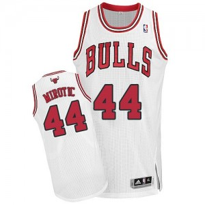 Maillot NBA Blanc Nikola Mirotic #44 Chicago Bulls Home Authentic Homme Adidas