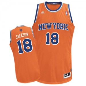 Maillot Swingman New York Knicks NBA Alternate Orange - #18 Phil Jackson - Homme