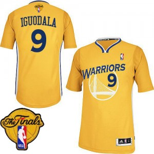 Golden State Warriors #9 Adidas Alternate 2015 The Finals Patch Or Authentic Maillot d'équipe de NBA la vente - Andre Iguodala pour Homme