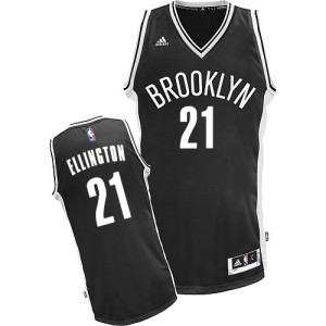 Maillot Adidas Noir Road Swingman Brooklyn Nets - Wayne Ellington #21 - Homme