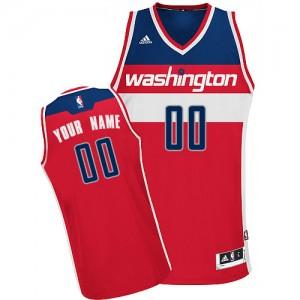 Washington Wizards Personnalisé Adidas Road Rouge Maillot d'équipe de NBA préférentiel - Swingman pour Homme