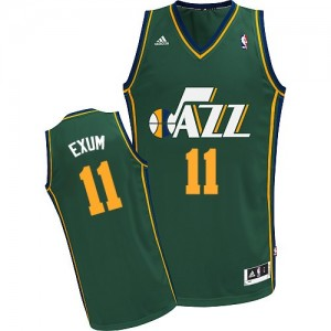 Maillot NBA Utah Jazz #11 Dante Exum Vert Adidas Swingman Alternate - Homme