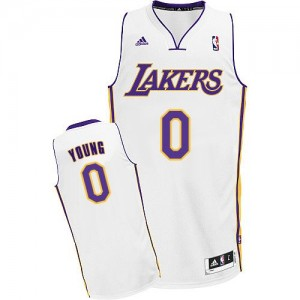 Maillot Swingman Los Angeles Lakers NBA Alternate Blanc - #0 Nick Young - Homme