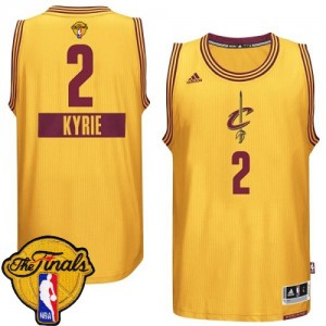 Maillot NBA Or Kyrie Irving #2 Cleveland Cavaliers 2014-15 Christmas Day 2015 The Finals Patch Swingman Enfants Adidas