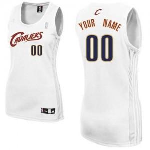 Maillot NBA Cleveland Cavaliers Personnalisé Authentic Blanc Adidas Home - Femme