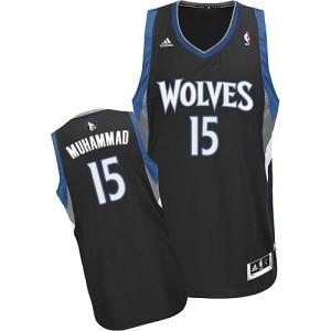 Maillot Swingman Minnesota Timberwolves NBA Alternate Noir - #15 Shabazz Muhammad - Homme