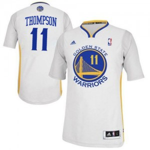 Maillot Adidas Blanc Alternate Swingman Golden State Warriors - Klay Thompson #11 - Homme