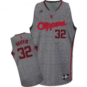 Maillot Adidas Gris Static Fashion Swingman Los Angeles Clippers - Blake Griffin #32 - Homme