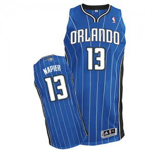 Maillot NBA Orlando Magic #13 Shabazz Napier Bleu royal Adidas Authentic Road - Homme