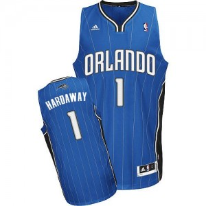 Maillot NBA Orlando Magic #1 Penny Hardaway Bleu royal Adidas Swingman Road - Homme