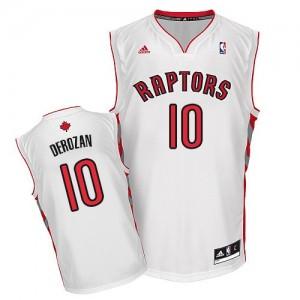 Maillot Adidas Blanc Home Swingman Toronto Raptors - DeMar DeRozan #10 - Homme