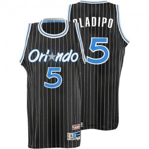 Maillot Adidas Noir Throwback Authentic Orlando Magic - Victor Oladipo #5 - Homme