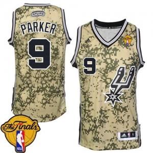 San Antonio Spurs Tony Parker #9 Finals Patch Authentic Maillot d'équipe de NBA - Camo pour Homme