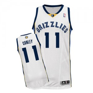 Maillot NBA Authentic Mike Conley #11 Memphis Grizzlies Home Blanc - Homme