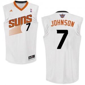 Phoenix Suns #7 Adidas Home Blanc Swingman Maillot d'équipe de NBA la meilleure qualité - Kevin Johnson pour Homme