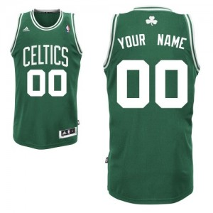Boston Celtics Swingman Personnalisé Road Maillot d'équipe de NBA - Vert (No Blanc) pour Enfants