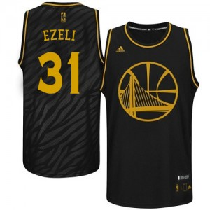 Maillot NBA Authentic Festus Ezeli #31 Golden State Warriors Precious Metals Fashion Noir - Homme