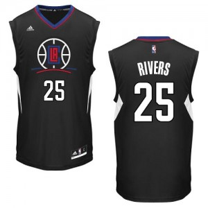Maillot Authentic Los Angeles Clippers NBA Alternate Noir - #25 Austin Rivers - Homme
