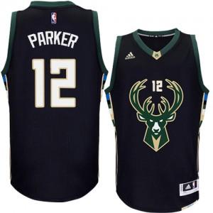 Maillot NBA Authentic Jabari Parker #12 Milwaukee Bucks Alternate Noir - Homme