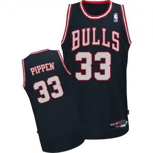 Maillot Adidas Noir / Blanc Authentic Chicago Bulls - Scottie Pippen #33 - Homme