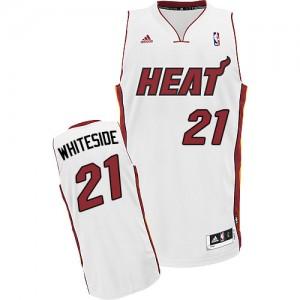 Maillot Swingman Miami Heat NBA Home Blanc - #21 Hassan Whiteside - Enfants