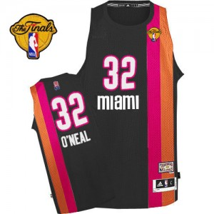 Maillot Adidas Noir ABA Hardwood Classic Finals Patch Authentic Miami Heat - Shaquille O'Neal #32 - Homme