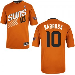 Phoenix Suns #10 Adidas Alternate Orange Authentic Maillot d'équipe de NBA boutique en ligne - Leandro Barbosa pour Homme