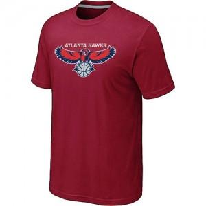 Atlanta Hawks Big & Tall Rouge T-Shirts d'équipe de NBA 100% authentique - pour Homme