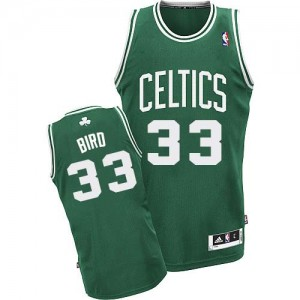 Maillot NBA Vert (No Blanc) Larry Bird #33 Boston Celtics Road Swingman Enfants Adidas