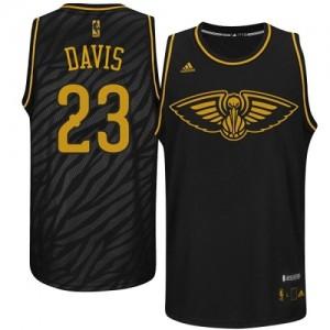 Maillot Authentic New Orleans Pelicans NBA Precious Metals Fashion Noir - #23 Anthony Davis - Homme