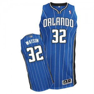 Orlando Magic C.J. Watson #32 Road Authentic Maillot d'équipe de NBA - Bleu royal pour Homme