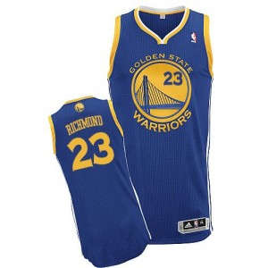 Maillot Adidas Bleu royal Road Authentic Golden State Warriors - Mitch Richmond #23 - Homme