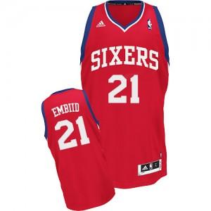 Maillot Adidas Rouge Road Swingman Philadelphia 76ers - Joel Embiid #21 - Homme