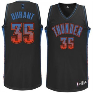 Maillot NBA Authentic Kevin Durant #35 Oklahoma City Thunder Vibe Noir - Homme