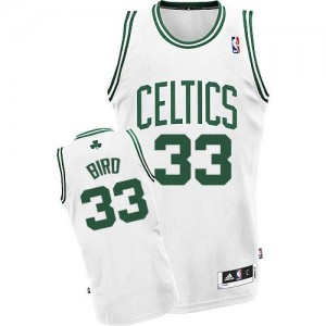 Maillot NBA Blanc Larry Bird #33 Boston Celtics Home Swingman Enfants Adidas