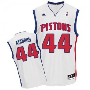 Detroit Pistons #44 Adidas Home Blanc Swingman Maillot d'équipe de NBA Magasin d'usine - Rick Mahorn pour Homme