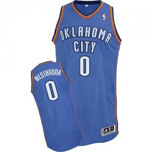 Maillot Adidas Bleu royal Road Authentic Oklahoma City Thunder - Russell Westbrook #0 - Enfants