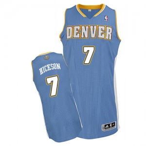 Maillot NBA Authentic JJ Hickson #7 Denver Nuggets Road Bleu clair - Homme