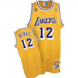 Maillot Adidas Or Throwback Swingman Los Angeles Lakers - Vlade Divac #12 - Homme