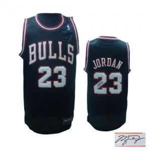 Maillot Adidas Noir Alternate Autographed Authentic Chicago Bulls - Michael Jordan #23 - Homme