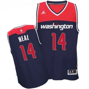 Washington Wizards #14 Adidas Alternate Bleu marin Swingman Maillot d'équipe de NBA Prix d'usine - Gary Neal pour Homme