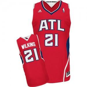 Atlanta Hawks #21 Adidas Alternate Rouge Swingman Maillot d'équipe de NBA Braderie - Dominique Wilkins pour Homme