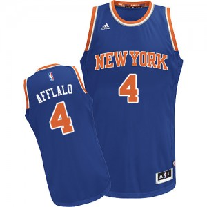 New York Knicks Arron Afflalo #4 Road Swingman Maillot d'équipe de NBA - Bleu royal pour Homme