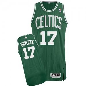 Maillot NBA Authentic John Havlicek #17 Boston Celtics Road Vert (No Blanc) - Homme