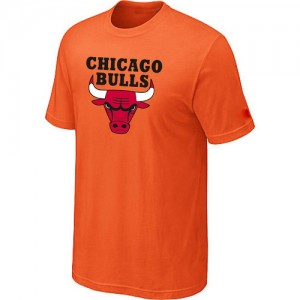 T-shirt à manches courtes Chicago Bulls NBA Big & Tall Orange - Homme