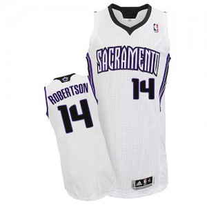 Maillot NBA Blanc Oscar Robertson #14 Sacramento Kings Home Authentic Homme Adidas
