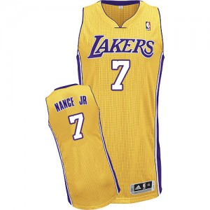 Maillot NBA Authentic Larry Nance Jr. #7 Los Angeles Lakers Home Or - Homme